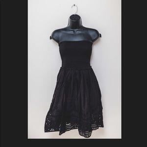 Topshop black strapless summer dress